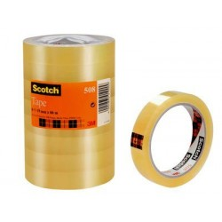 Cinta adhesiva transparente scotch 508 de 19 mm. x 66 mts. en pack de 8.