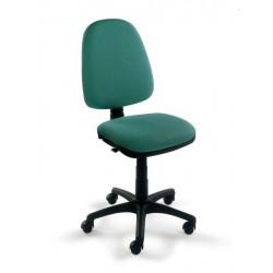 Silla de oficina danubio contacto permanente, respaldo alto y asiento regulable en altura.