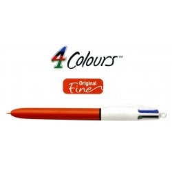 Bolígrafo retráctil multifunción bic 4 colours original fine.