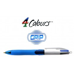 Bolígrafo retráctil multifunción bic 4 colours grip.