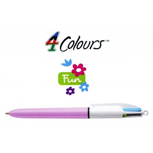 Bolígrafo retráctil multifunción bic 4 colores fun.