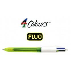 Bolígrafo retráctil multifunción bic 4 colores fluo.
