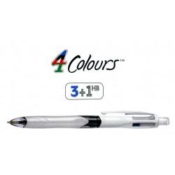 Bolígrafo retráctil multifunción bic 4 colours 3 colores + 1 portaminas de 0,7 mm.