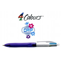 Bolígrafo retráctil multifunción bic 4 colours grip fun.