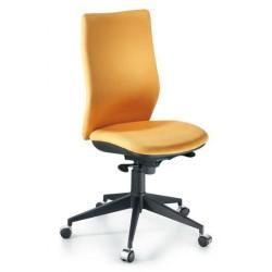 Silla de oficina Vela syncro, respaldo alto con regulación lumbar y asiento regulable en altura.