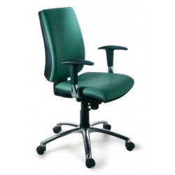 Silla de oficina new admira syncro, respaldo alto con brazos regulables 2d y asiento regulable en altura.