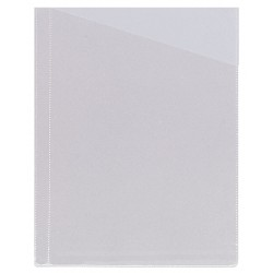 Funda planos sin taladro en pvc de 100 micras grafoplas en formato din a-4 con corte diagonal, color transparente.