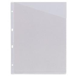 Funda planos 4 taladros en pvc de 100 micras grafoplas en formato din a-4 con corte diagonal, color transparente.