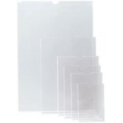 Funda con uñero en pvc de 150 micras grafoplas en formato 102x60 mm. color transparente.