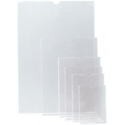 Funda con uñero en pvc de 150 micras grafoplas en formato 1/4 color transparente.