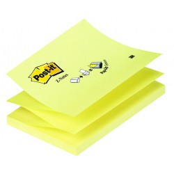 Bloc de notas adhesivas 3m post-it z-notes 76x127 mm. color canary yellow.
