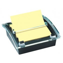 Dispensador de notas adhesivas 3m post-it z-notes 76x76 mm. millenium, color negro.