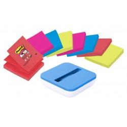 Dispensador de notas adhesivas 3m post-it z-notes en color azul val.