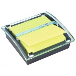 Dispensador de notas adhesivas 3m post-it super sticky z-notes xl 101x101 mm. con líneas, millenium.