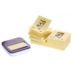 Dispensador de notas adhesivas 3m post-it super sticky z-notes 76x76 mm. color morado.