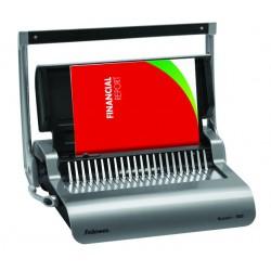Encuadernadora de canutillo de plástico fellowes pulsar+ con capacidad de encuadernación máxima de 300 hojas.