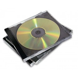 Pack de 10 cajas jewel fellowes para cd/dvd's.