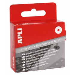 Arandela adhesiva translúcida apli de 13 mm. de diámetro, caja de 200 uds.