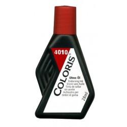 Tinta para entintar almohadillas coloris de 28 ml. rojo.
