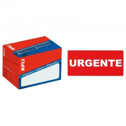 Etiqueta apli pre-impresa urgente de 50x100 mm. c-200 uds.