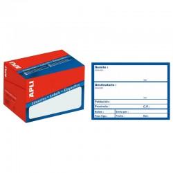 Etiqueta apli pre-impresa envío de 82x109 mm. c-200 uds.