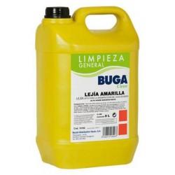 Lejía líquida buga clásica desinfección, garrafa de 5 litros.