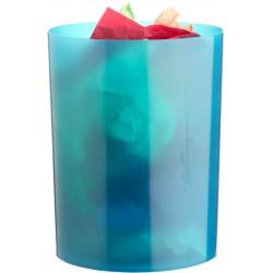 Papelera de plástico archivo 2000 en color azul mar translúcido.