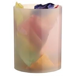Papelera de plástico archivo 2000 en color cristal traslúcido.