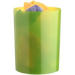 Papelera de plástico archivo 2000 en color verde kiwi traslúcido.