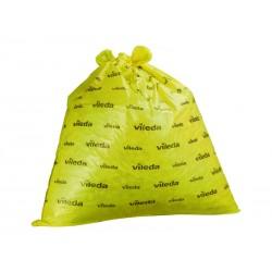 Bolsa de basura Vileda 50x45 uso sanitario en color blanco, rollo de 50 unidades.