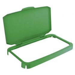 Tapa para contenedor durable durabin de 60 litros en color verde.