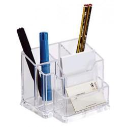 Organizador de sobremesa archivo 2000 828 en color cristal transparente.