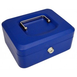 Caja de caudales q-connect 200x160x90 mm. en color azul.