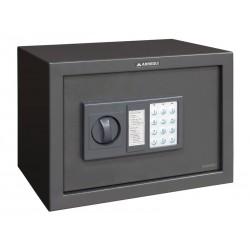 Caja fuerte Arregui sobreponer class electrónica de 310x200x200 mm. en color gris oscuro.