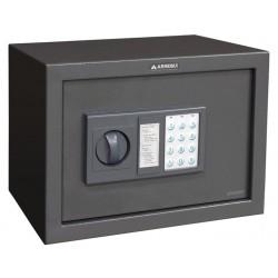 Caja fuerte Arregui sobreponer class electrónica de 430x200x350 mm. en color gris oscuro.