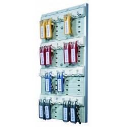 Panel para 24 llaves durable en color gris.