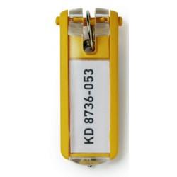 Llaveros durable Key Clip en color amarillo, bolsa de 6 unidades.