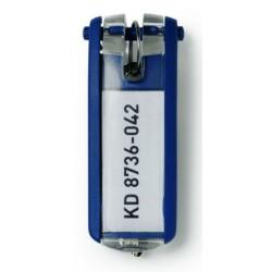 Llaveros durable Key Clip en color azul, bolsa de 6 unidades.
