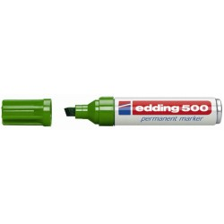 Marcador permanente edding 500 verde.