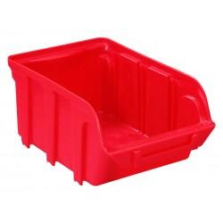 Bandeja de alamcenamiento Viso serie Tekni de 1 litro en color rojo.