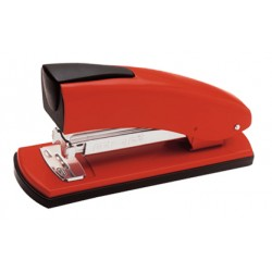 Grapadora de sobremesa petrus 2001 en color rojo.