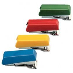Grapadora de bolsillo petrus bambina 202 + 1 caja de grapas 202, colores surtidos.