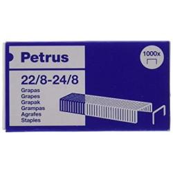 Grapas petrus cobreadas 22/8-24/8, caja de 1.000 uds.
