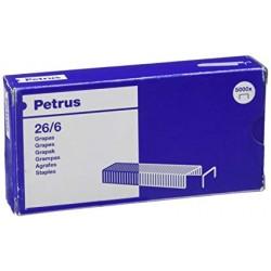Grapas petrus cobreadas 26/6, caja de 5.000 uds.