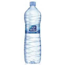 Agua mineral Lanjaron de 330 ml., pack de 42 unidades.
