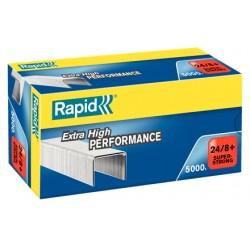 Grapas rapid strong galvanizadas 24/8+, caja de 5.000 uds.