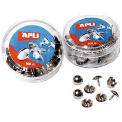 Chincheta niquelada apli de 10 mm. de diámetro, caja de 100 uds.