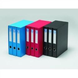Box de 3 carpetas de 2 anillas mixtas de 40 mm. uni system color negro en din a-4.