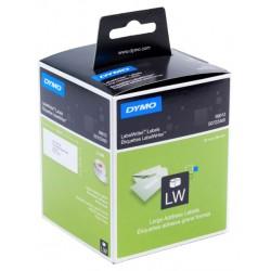 Etiqueta dymo labelwriter de 89x36 mm. en papel blanco, caja de 2 rollos de 260 uds.