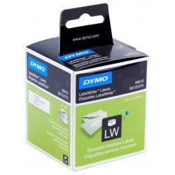 Etiqueta dymo labelwriter de 89x28 mm. en papel blanco, caja de 2 rollos de 130 uds.